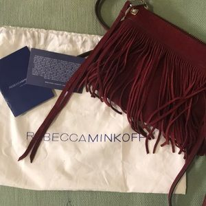 Rebecca Minkoff fringed suede crossbody bag
